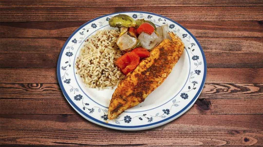 Pan Seared Blackened FIsh Fillet Meal