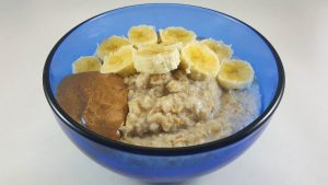 Quick Oatmeal Recipe with Banana and Almond Butter