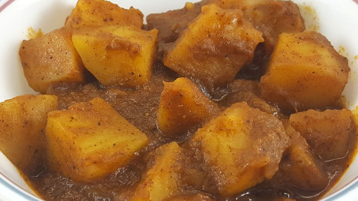 close up photo of potato curry