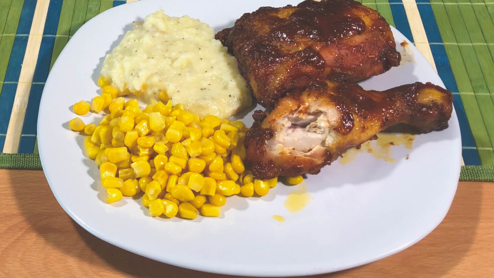 Serving Suggestion for the Smoked Easy BBQ Chicken