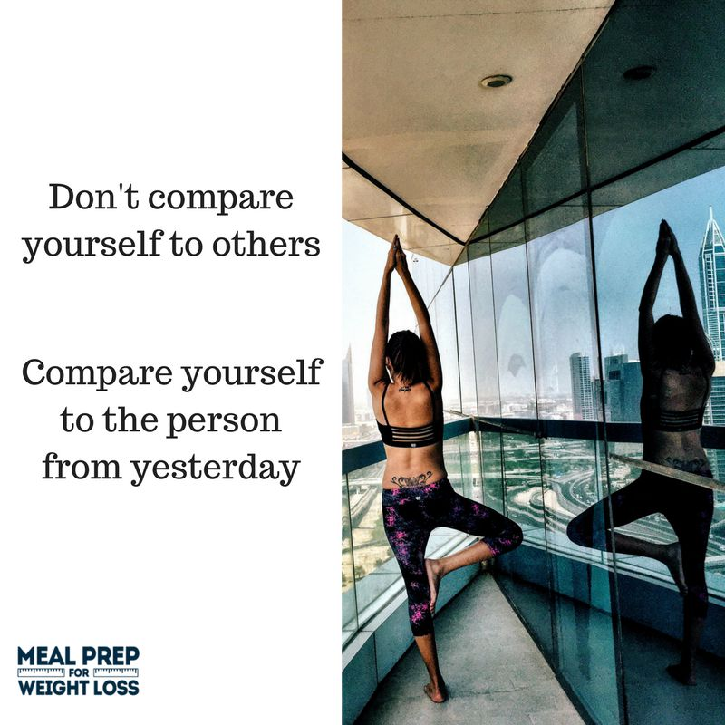 Don't compare yourself to others. Compare yourself to the person from yesterday